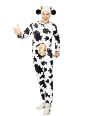 Adult Silly Cow Costume - Animal Suit - 38/42""